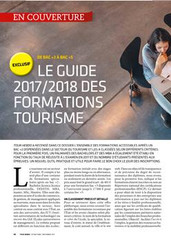 Enquête - Le guide 2017/2018 des formations tourisme (de bac +3 à bac +5)